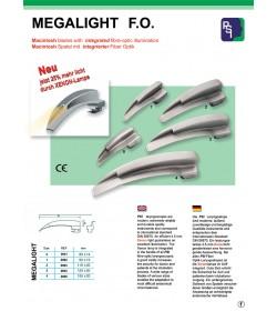 Macintosh blades with integrated fibre-optic illumination